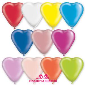 Воздушный шар Сердце 10 дюймов «Пастель/Кристалл»