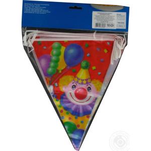 Гирлянда-вымпел «Клоун с шарами»