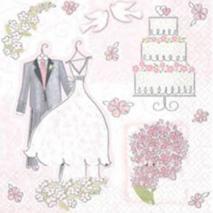 Набор бумажных салфеток «Свадьба Romantik»
