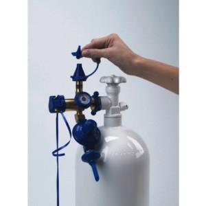 Газовое оборудование с клапаном, манометром и редуктором