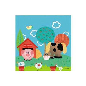 Набор бумажных салфеток «Забавная ферма»