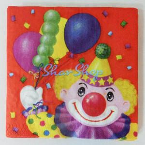 Набор бумажных салфеток «Клоун с воздушными шарами»
