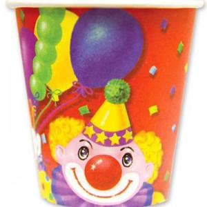 Набор бумажных стаканов «Клоун с шарами»