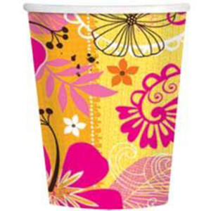 Набор бумажных стаканов «Тропическая Жара»