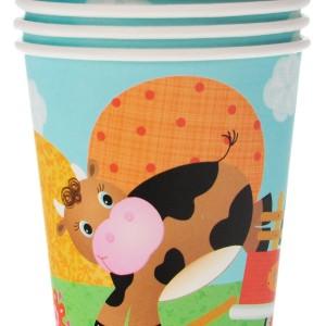 Набор бумажных стаканов «Забавная ферма»
