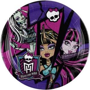 Набор бумажных тарелок «Monster High»