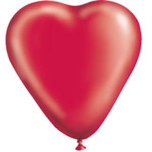 Воздушный шар Сердце 10 дюймов «Кристалл Красное»