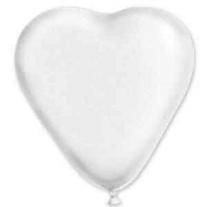 Воздушный шар 10 дюймов «Сердце Пастель Белое»