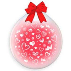Воздушный шар — транспорант 18 дюймов с рисунком «Сердца»