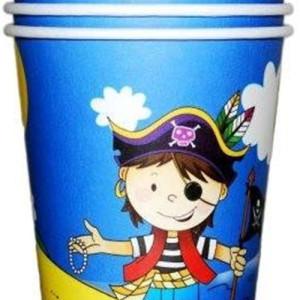 Набор бумажных стаканчиков «Маленький пират»
