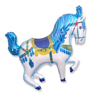Фигура/11  Лошадь цирковая голубая, Испания. Срок годности не ограничен производителем.