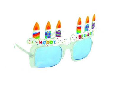 Карнавальные очки «Торт со свечами»