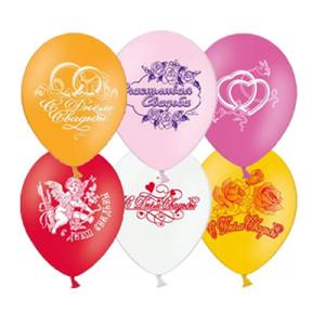 Воздушный шар 10 дюймов с рисунком «Свадьба 2»