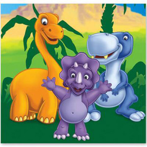 Набор бумажных салфеток «Динозаврики»