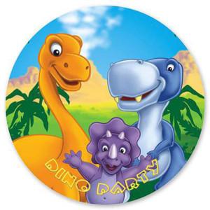 Набор бумажных тарелок «Динозаврики»