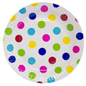 Набор бумажных тарелок «Горошек Мульти»