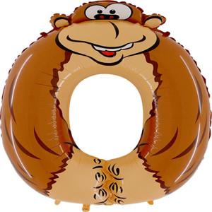 Фольгированный шар-цифра 36 дюймов «0 Обезьяна»