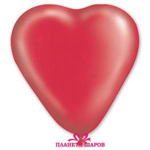 Воздушный шар 10 дюймов «Сердце Кристалл Красное»