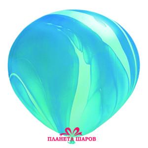Воздушный шар 11 дюймов «Супер Агат Blue»