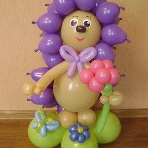 Композиция из воздушных шаров «Ёжик»
