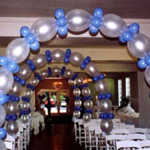 Гирлянда линг из воздушных шаров