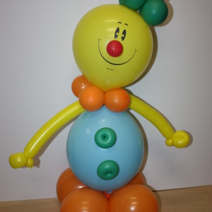Композиция из воздушных шаров «Клоун без цветов»