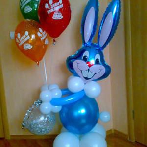 Композиция из воздушных шаров «Заяц»
