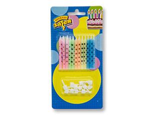 Свечи для торта с подставками «Горошек»