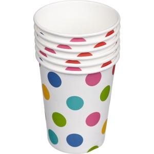 Набор бумажных стаканов «Горошек мульти»