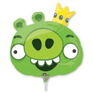 Фольгированная мини-фигура «Angry Birds король свиней»