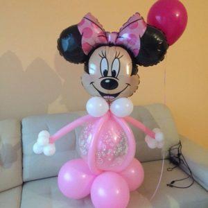 Композиция из воздушных шаров «Минни Маус»