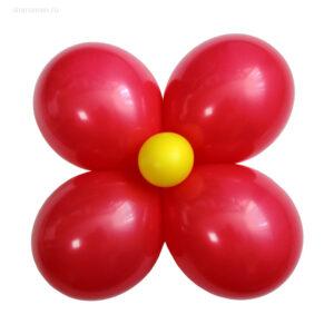 Цветок большой «Ромашка» из шаров (на 4 лепестка)